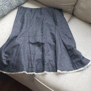 BENETTON black tweed skirt